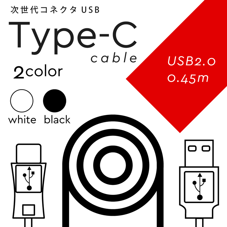 Disney Mobile on docomo DM-01K 【送料無料】 USB 2.0 TYPE-C 充電 ケーブル 0.45m type-c アダプタ 充電器 ケーブル 次世代規格 タイプC 充電ケーブル 充電機 ディズニー モバイル