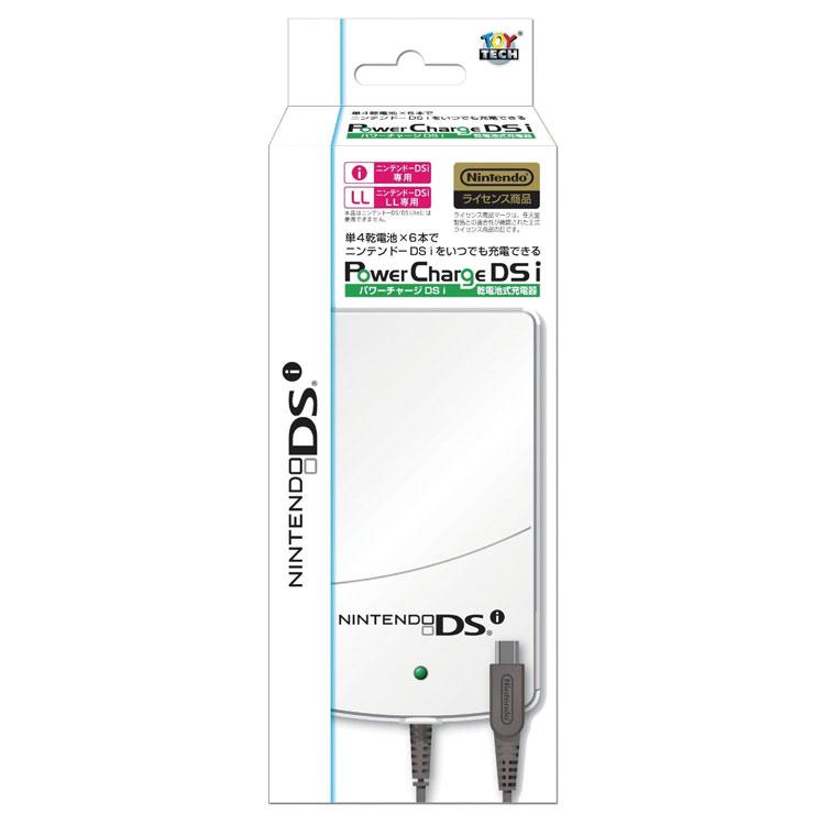 【送料無料】 単4乾電池×6本でニンテンドーDSi/3DS/3DSLLをいつでも充電できる パワーチャージDSi 乾電池式充電器 TIJ-01-DSi Pwoer Charge DSi TOYTECH トイテック ニンテンドーライセンス商品 ホワイトナッツ