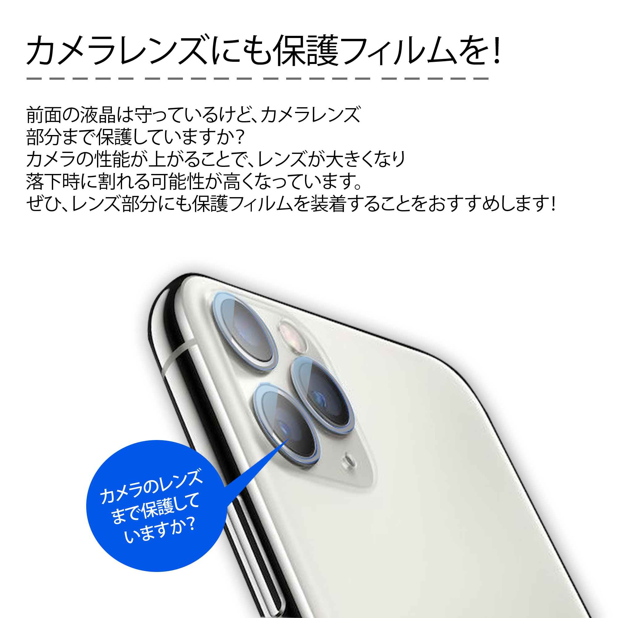 IPhone11 / IPhone11 Pro / IPhone11 Pro Max カメラレンズ 保護 ガラス